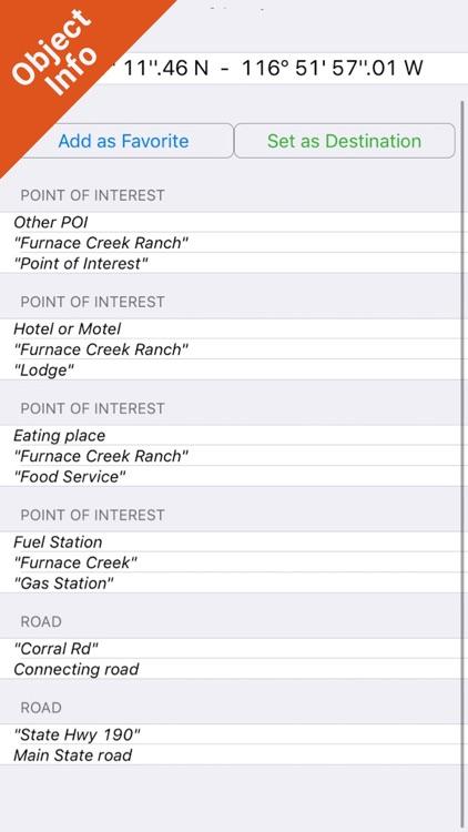 Death Valley National Park - GPS Map Navigator screenshot-3
