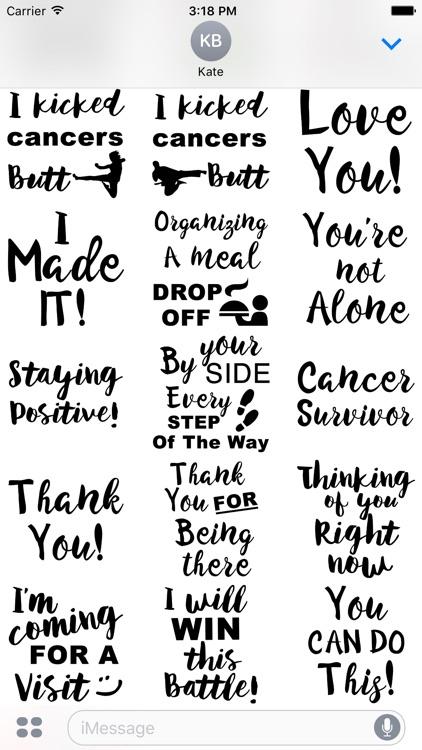 Lymphoma Cancer Stickers screenshot-4