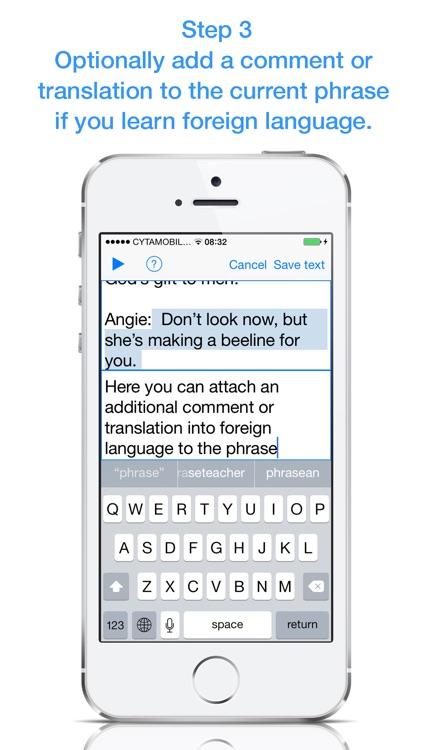 Audio vs Text screenshot-3