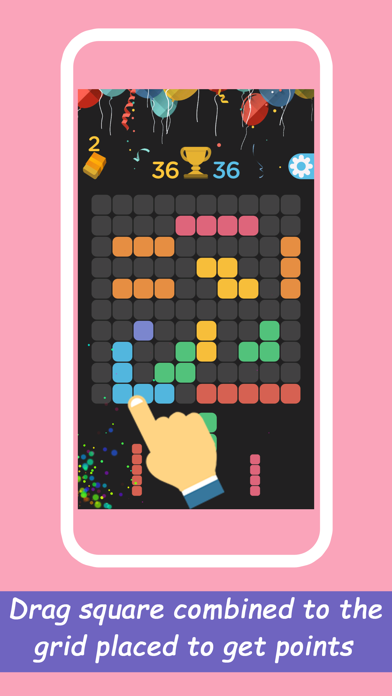 Checker1010+puzzle game screenshot one