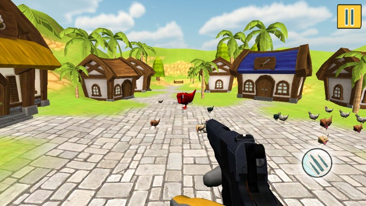 Crazy Chickens Shooting Action screenshot-3