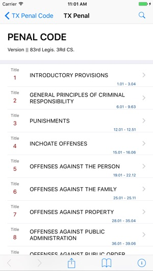 Texas Penal Code by LawStack on the App Store