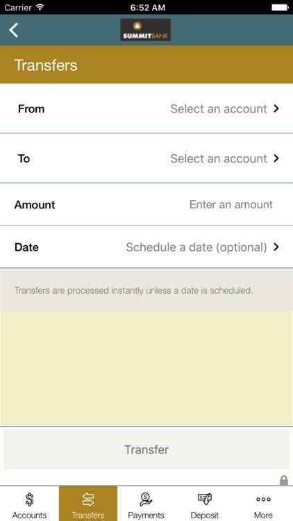 Summit Bank (OR) Mobile Banking screenshot-4