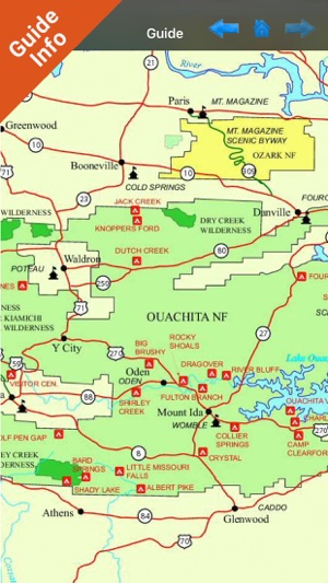 ‎Ouachita National Forest gps and outdoor map