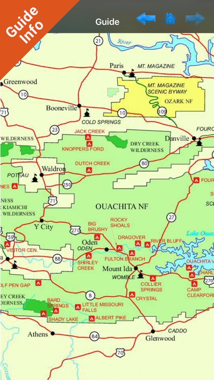 Ouachita National Forest gps and outdoor map screenshot-3