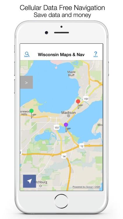 Wisconsin Offline Maps screenshot-0
