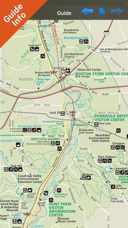 Cuyahoga Valley NP gps and outdoor map with Guide screenshot-3