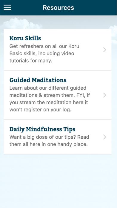 Koru Mindfulness screenshot one