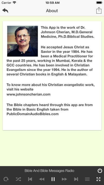 Bible & Bible Messages Radio by Johnson Cherian