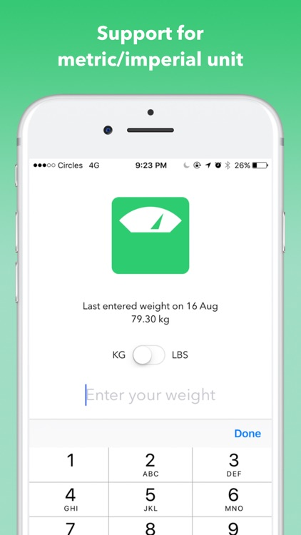 LogWeight for Health App