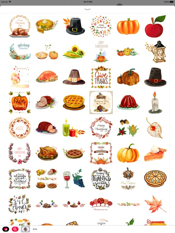 Thanksgiving Watercolor Set screenshot 6