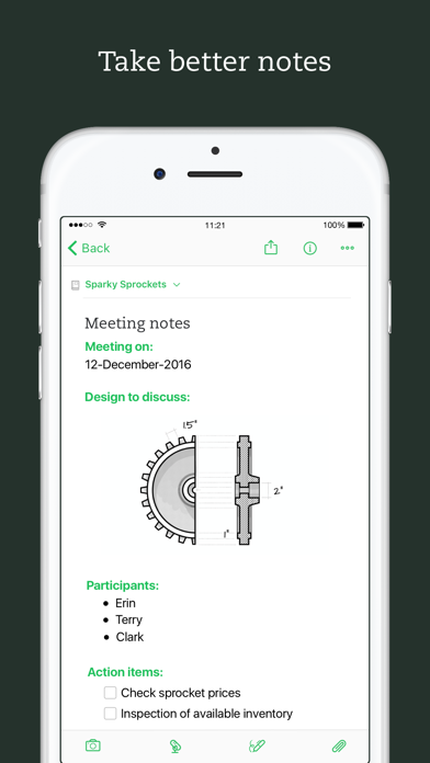 Screenshot 1 for Evernote's iPhone app'