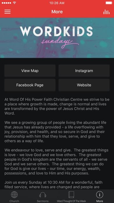 Word Of His Power Church screenshot 3