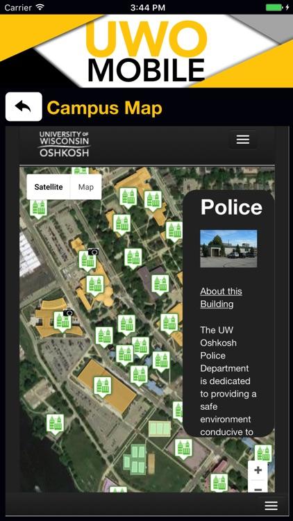 Oshkosh Campus Map.Uwo Mobile By University Of Wisconsin Oshkosh