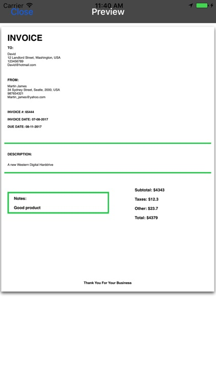 Invoice Builder screenshot-3