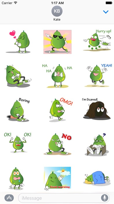 Animated Green Pear Stickers screenshot 1