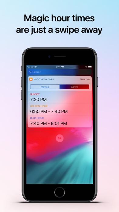 Helios - Magic Hour Calculator Screenshot on iOS