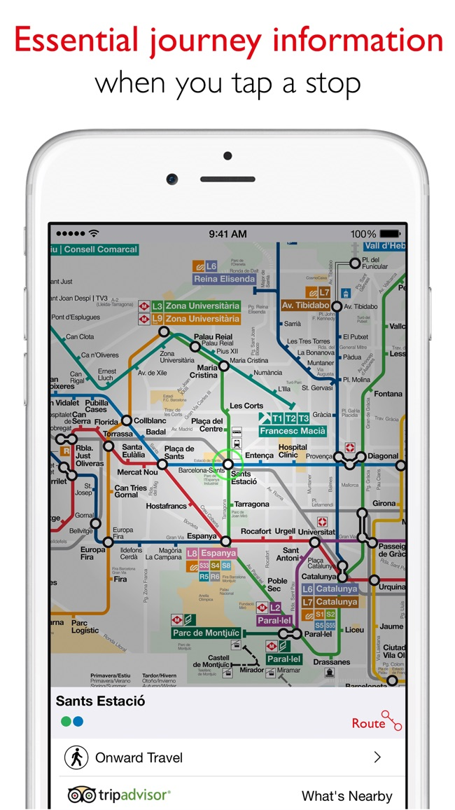 Barcelona Metro - TMB Map Screenshot