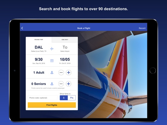 Southwest Airlines iPad