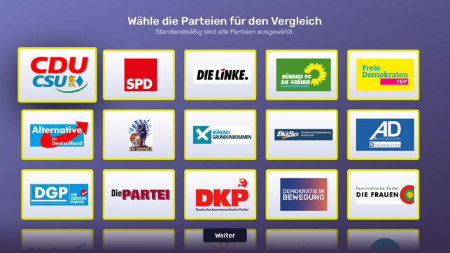 ‎WahlSwiper Screenshot