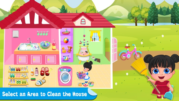 Little Girl Cleanup Adventure