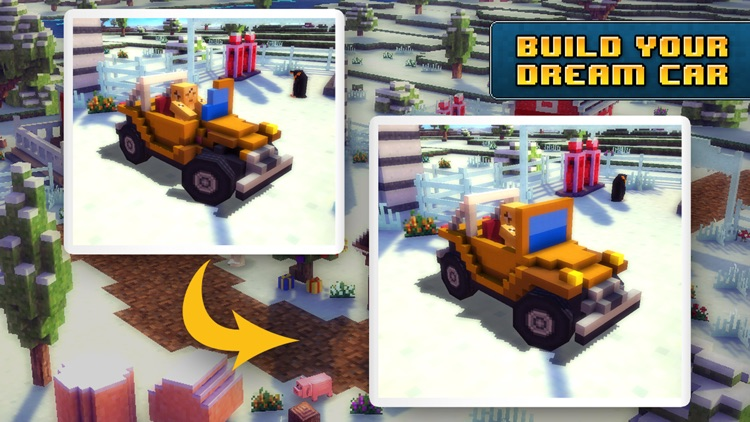 Blocky Roads Winterland screenshot-2