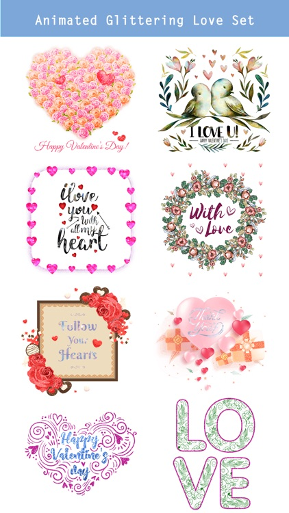Happy Love Stickers - Animated