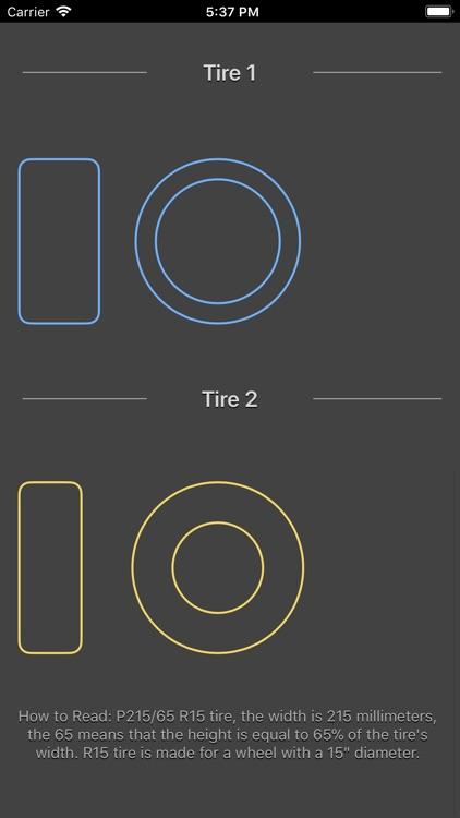 Tire Size Calculator Plus screenshot-6