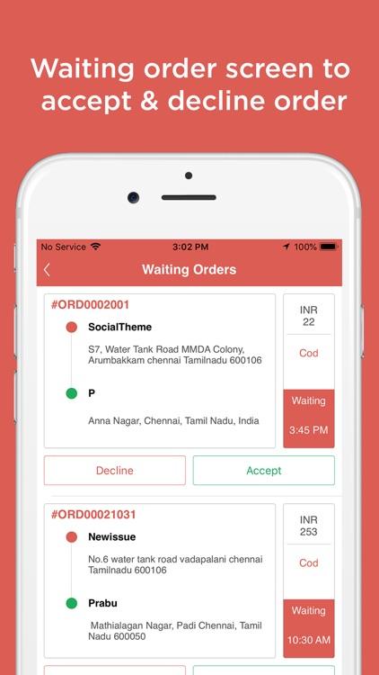 Delivery Driver app-Menu Order
