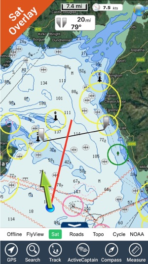 Map Of West Of England.Marine Wales And West England Gps Map Navigator