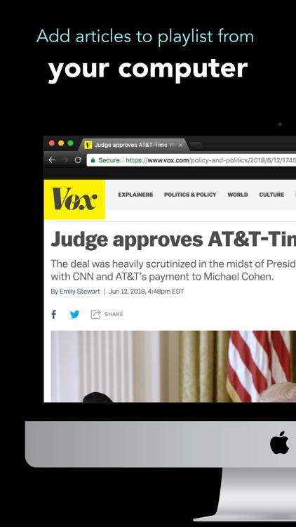 Text to Speech News - Motoread screenshot-3