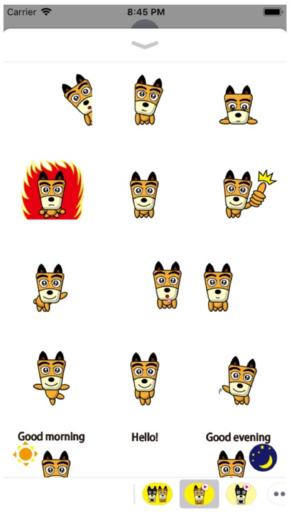 TF-Dog 10 Animation Stickers
