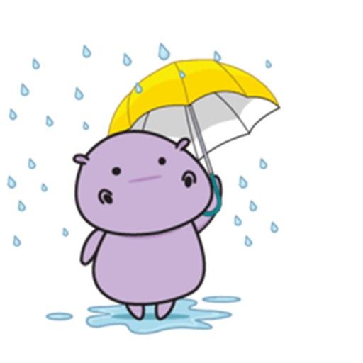 Chubby Hippopotamus Sticker