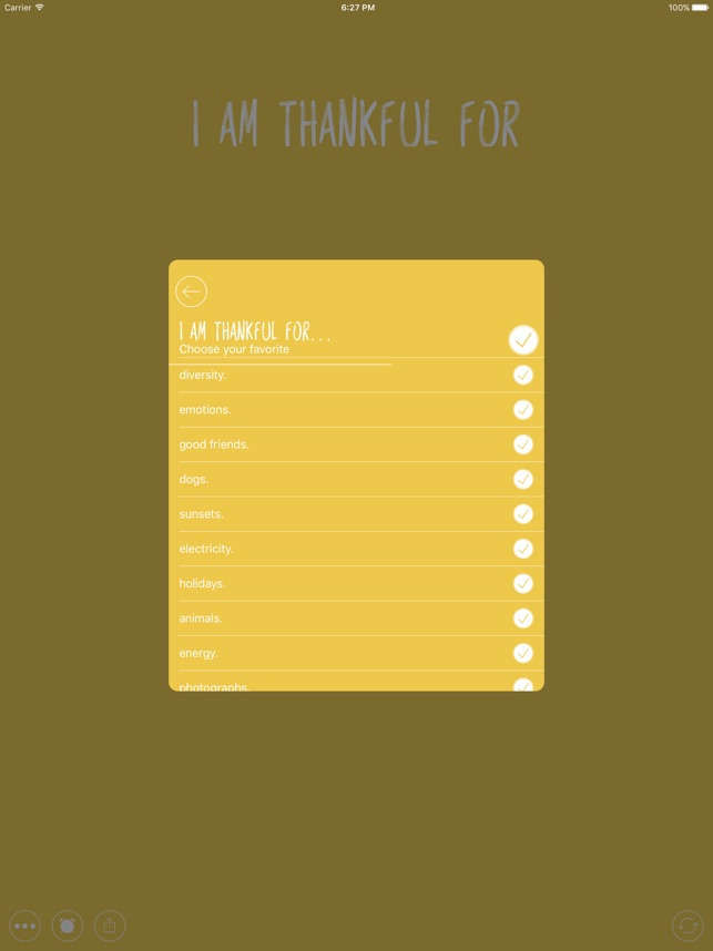 Thankful for - Gratitude Diary Screenshot