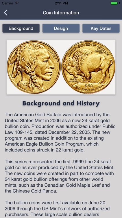 American Gold Buffalo - Coin Collection Tracker screenshot-1