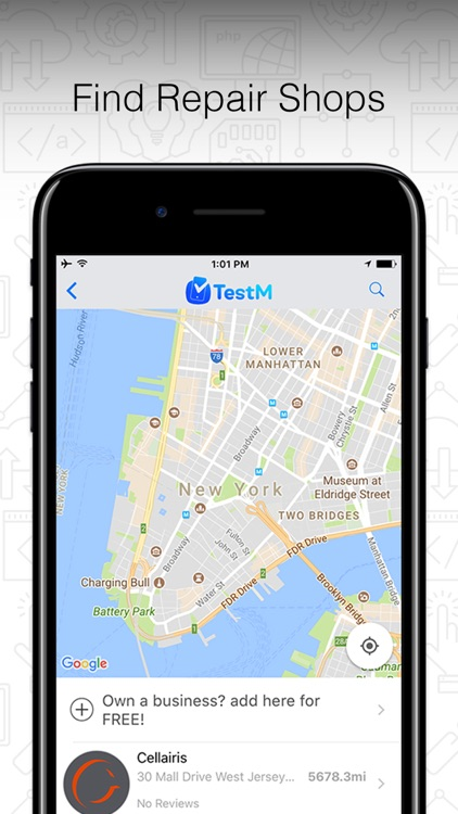 TestM - Check phone & Report