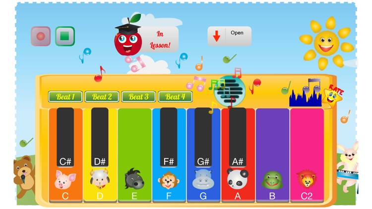 Kids Toy Piano And Teacher