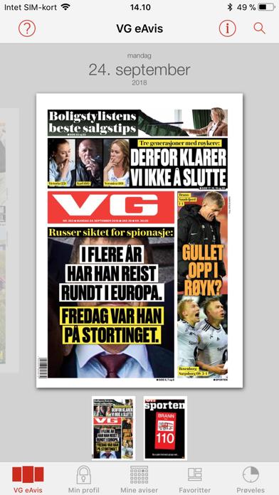 VG eAvis screenshot one