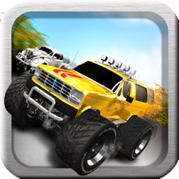 A Super Monster Truck Racing 3D- Free Real Multiplayer Offroad Race Game