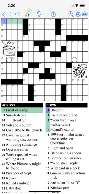 Puzzazz crossword puzzle on the app store screenshots malvernweather Image collections