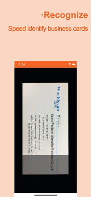 Wecard business card scanner on the app store reheart Images