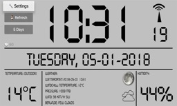 LCD Weather Clock