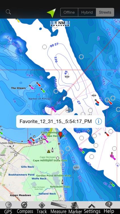 Delaware GPS Nautical Charts screenshot-3