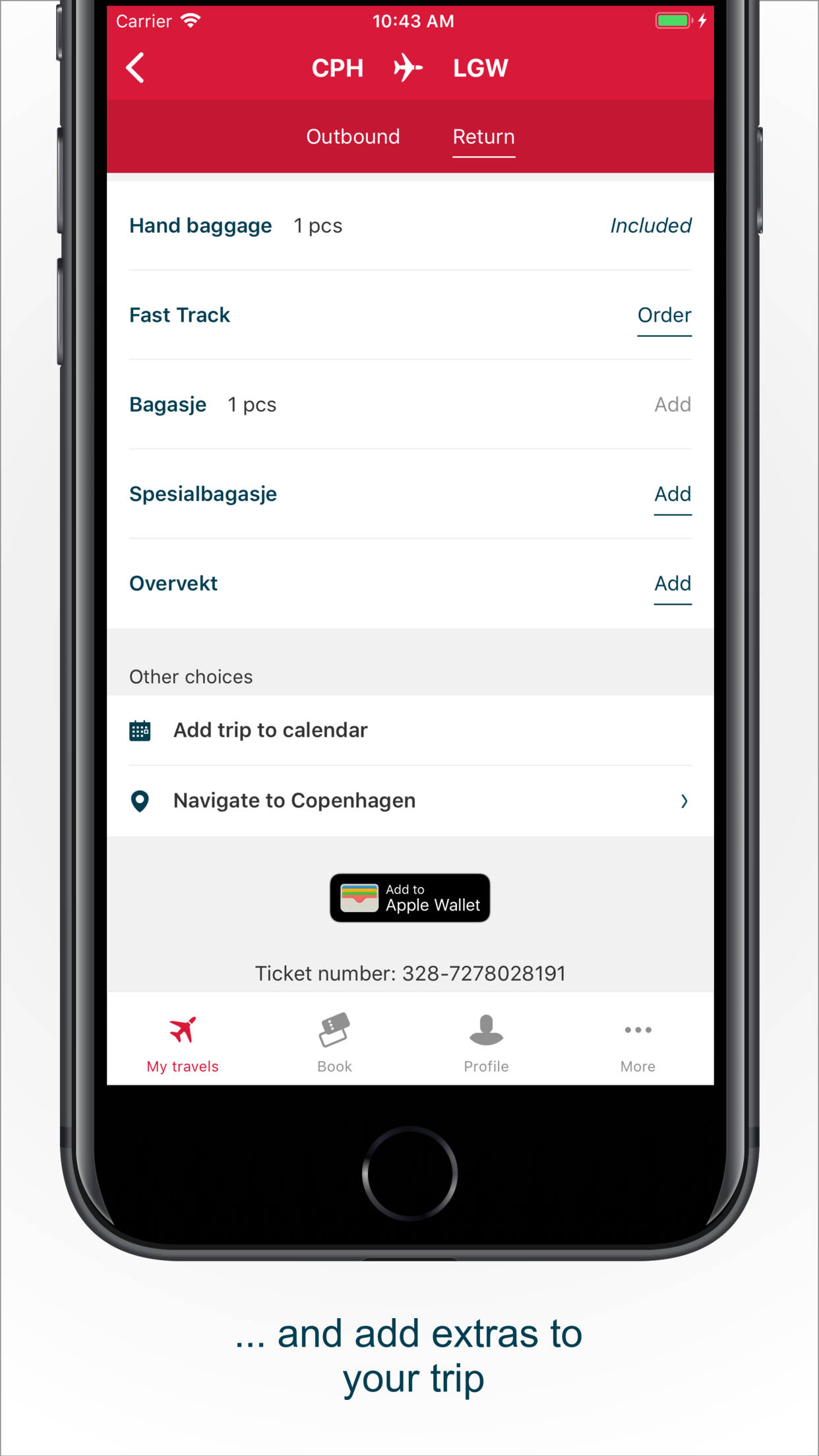 Norwegian Travel Assistant Screenshot