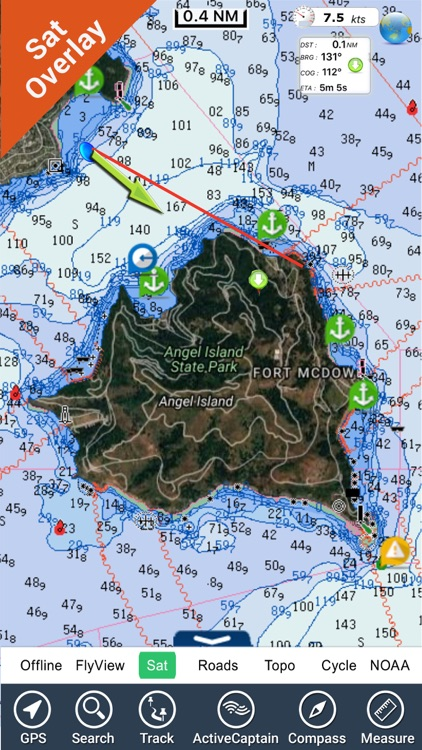 California fishing HD GPS Maps