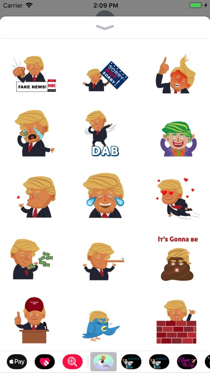 Silly President Stickers