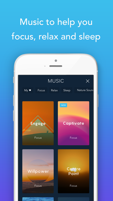 Screenshot 4 for Calm's iPhone app'