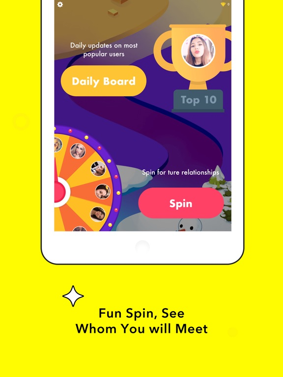 Spin - AddFriends or Chat-ipad-2