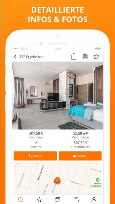 Screenshot for ImmobilienScout24 - Immobilien in Germany App Store