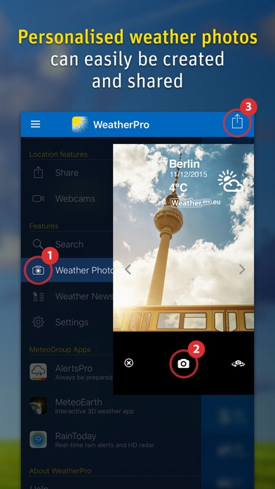 Screenshot for WeatherPro in United Arab Emirates App Store
